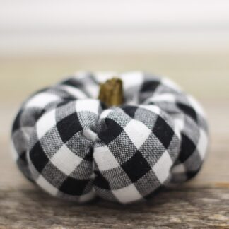 Mini Buffalo Check Pumpkin